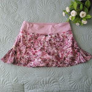 LULULEMON Play Off The Pleats Skirt Mauve Floral 4